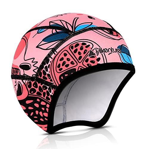 Hikenture Kids Skull Cap Helmet Liner Winter Hat for Boys and Girls Beanie Ski Hat(6) Pink