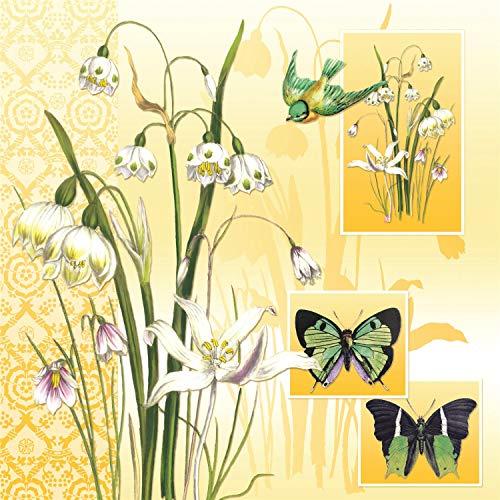 Tovaglioli di carta monouso, Araldo della primavera, 20 pezzi 3 strati - 33 x 33