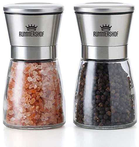 Rummershof Molinillos de Sal y Pimienta Set con Molinillo de Cerámica - Acero Inoxidable