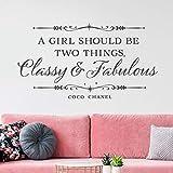 Ein Mädchen sollte zwei Dinge sein, elegante und exquisite Wandtattoos zitieren Wand Mädchen Zimmer Familie Schlafzimmer Dekoration...