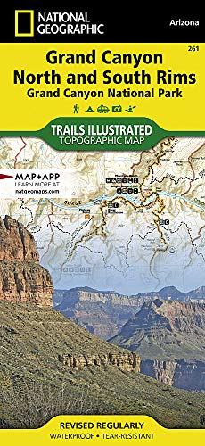 Grand Canyon, Bright Angel & North/South Rim: NATIONAL GEOGRAPHIC Trails Illustrated National Parks