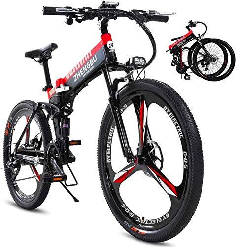 MQJ Ebikes 26'Bici de Montaña Eléctrica 400W Aleación de Aluminio Ebike para Adultos, 48V 10Ah Batería de Iones de Litio Profesional 27 Equipo de Velocidad Mtb Bicicleta para Hombres Y Mujeres,Rojo