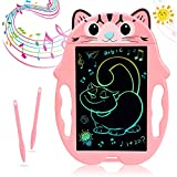 LCD Writing Tablet Doodle Board, mylovetime Kids Drawing Pad with 2 Pen and Coloring Screen, 8.5 inches E Ink Drawing Pads for Kids Toodlers Ages 2-5 Gift Toys (Pink)