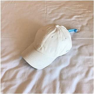 Hats Visor Baseball Cap Hat Female Summer Embroidery Letter Cap Fashion (Color : White, Size : F/56-59cm)