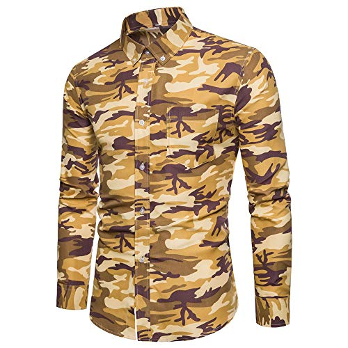 Men's Shirt New Spring and Autumn Trend Casual Long-Sleeved Camouflage Shirt Slim Handsome Men's Clothing