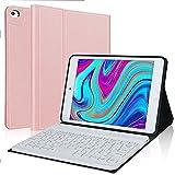 IVEOPPE Funda con teclado para iPad Mini de 7,9 pulgadas 5/iPad Mini 4/3/2/1, iPad Mini, teclado alemán QWERTZ, funda con teclado extraíble (oro rosado)