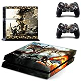 FENGLING Juego Monster Hunter World Ps4 Skin Sticker Decal para Sony Playstation 4 Console y 2 Controller Ps4 Skin Sticker Vinyl