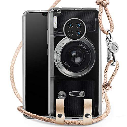 DeinDesign Carry Case kompatibel mit Huawei Mate 30 Hülle mit Kordel aus Leder Handykette zum...