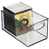 mDesign Caja de almacenaje con asas integradas – Cajas organizadoras para utensilios de cocina,...