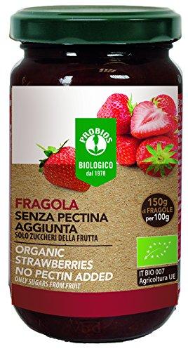 PROBIOS Erdbeer-Brotaufstrich - Gesüßt Nur mit Zucker aus Früchten, (1 x 220 g)
