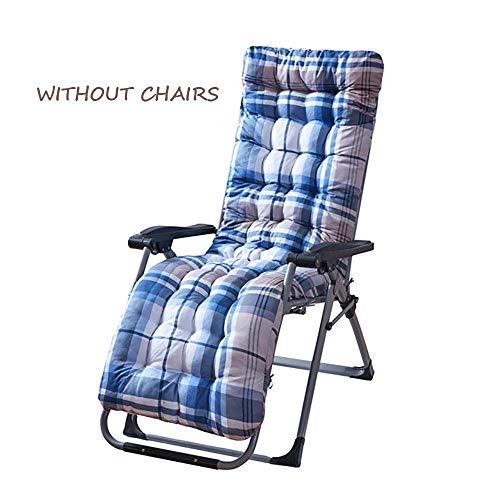 JD Bug Lounge Kussenstoel, verdikte Amerikaanse Pastorale Patio Chaise Longue Pads met kap voor schommelen Rolstoel Indoor Outdoor -b 170x53x8cm (67x21x3inch)