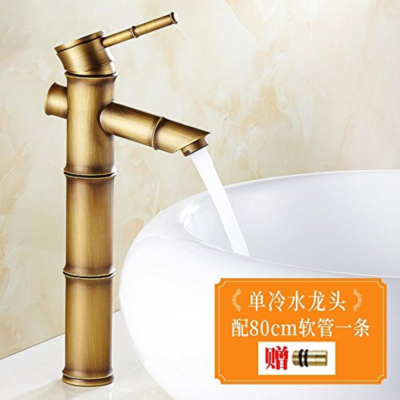 venta directa de fábrica ETERNAL QUALITY Grifo del lavabo lavabo lavabo del bao Grifo de fregadero de cocina Cobre Retro Solo Agujero Bambú Grifo mezclador para lavabo BEG1195  Envio gratis en todas las ordenes