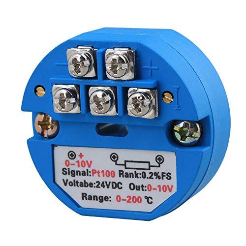 BQLZR Kunststoff PT100 Temperatur Messumformer 0~200C Enegie 24V DC Ausgang 0-10V