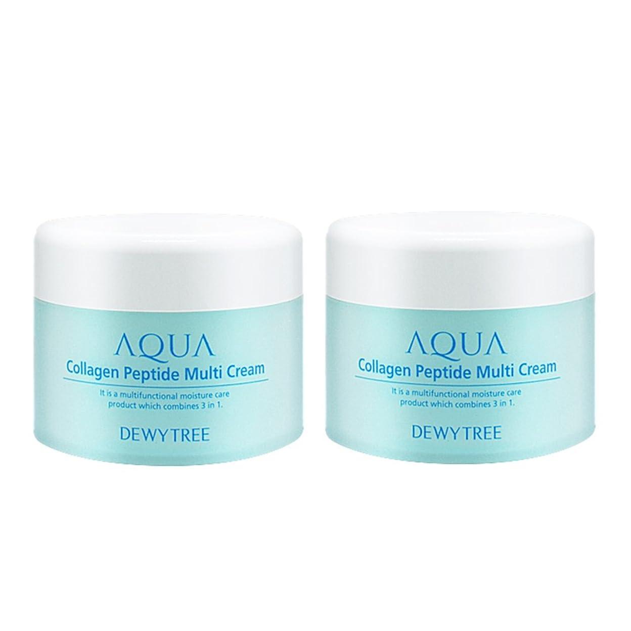 鬼ごっこ記念碑著作権(2個セット) x [Dewytree] デュイトゥリー アクアコラーゲン ペプチド マルチクリーム Aqua Collagen Peptide Multi Cream (50ml+50ml) / [並行輸入品]