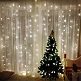 Newest Navidad Luces Luces Cortina Guirnalda 3x3M LED String Fairy Decorativo Adorno Interior Decoración de la boda Luz de red (Emitting Color : Colorful)
