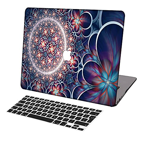 Laptop Case for MacBook Air 13 inch Model A1369/A466,Neo-wows(2 in 1 Bundle) Plastic Ultra Slim Light Hard Shell Cover UK Keyboard Cover Compatible MacBook Air 13 Inch No Touch ID,Flower 97