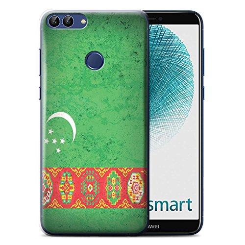 Stuff4® hoes/case voor Huawei P Smart/Turkmenistan/Turmenpatroon/Azië vlag collectie