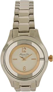 Kenneth Cole Womens Quartz Watch, Analog Display and Stainless Steel Strap 10026945