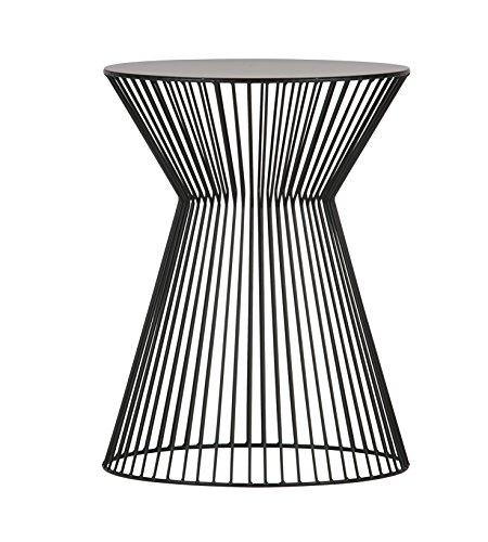 Woood Beistelltisch Couchtisch SUUS Kaffeetisch Design Tisch Metall schwarz Ø 35 cm (inklusive aktueller Wohnzeitschrift)
