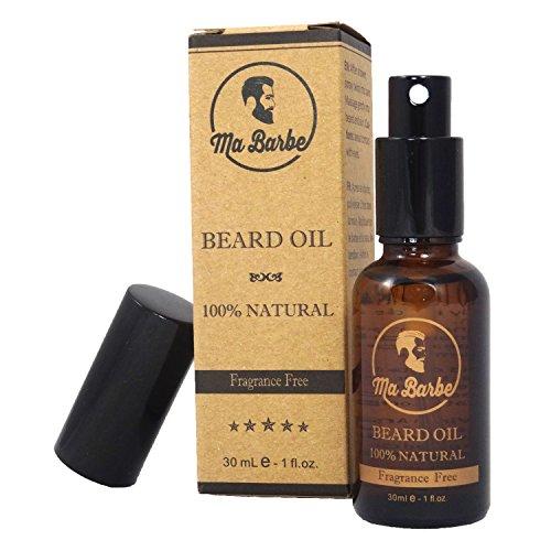 Premium Bartöl 100% NATÜRLICH ohne Parfüm. Mit Spray! Nährt, hydratisiert, erweicht, stimuliert das Wachstum, macht es glänzen. 8 vorteilhaften Pflanzenölen. Perfekt für empfindliche Haut. 30 ml