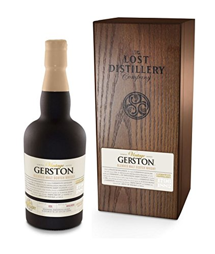 Photo of Gerston Vintage Selection from The Lost Distillery Company. 700ml, 46% Abv, wooden box, Smoky and salty Highland style