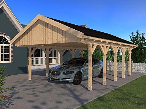 Carport Satteldach Monaco XII 500cm x 800cm Leimbinder Bausatz Fichte