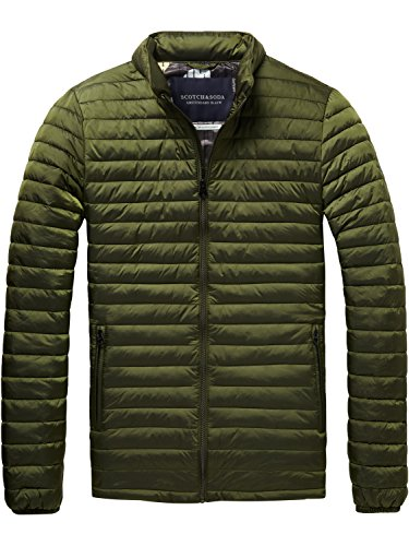 Scotch & Soda Herren Simple Quilted Fake Jacket Jacke, Grün (Military Green 0j), Medium