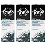 Tom's of Maine Luminous White Toothpaste With Charcoal oz. 3Pack, Wintergreen, Wintergreen, 4.0 Ounce, Pack, 3 Count
