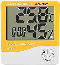 Digital Temperature Humidity Meter ANENG HTC-1 LCD Thermometer Hygrometer Indoor Clock(Orange)