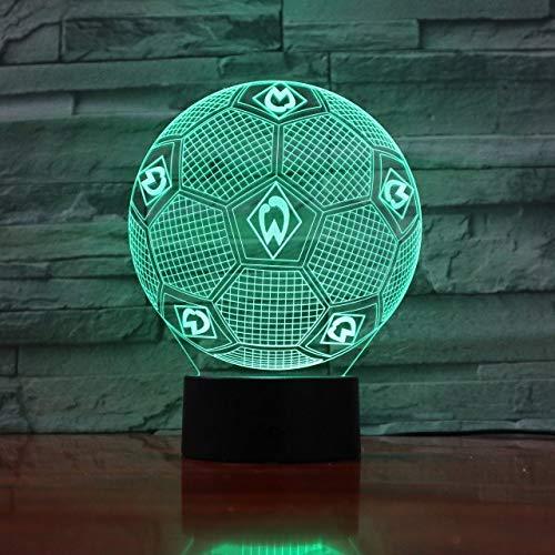 Klsoo B&esliga Fußball Team Fc Werder Bremen 3D Led Nachtlichter Jungen Kinder Baby Geschenke Fußball Tischlampe Nachttischdekoration