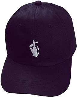 Caps, Unisex Fashion Baseball Cap Adjustable Hip Hop Finger Hat (Black)
