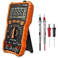 Multímetro Digital Profesional, LOMVUM T28B Automático Polimetro Digital 6000 Cuentas y 2000uF Tester Digital