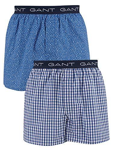 Gant Heren 2-pack geweven boxershort, Blauw