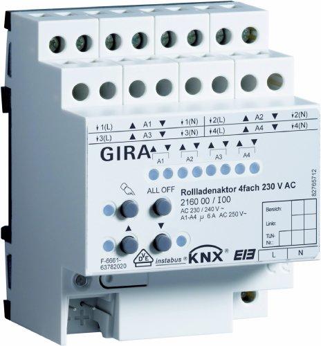 Gira 216000 rolluikactor 4-voudig 230 V AC KNX REG