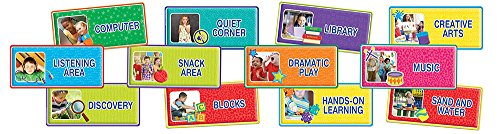Eureka Teacher Supplies Color My World Back To School Classroom Area Signs, 12 pcs