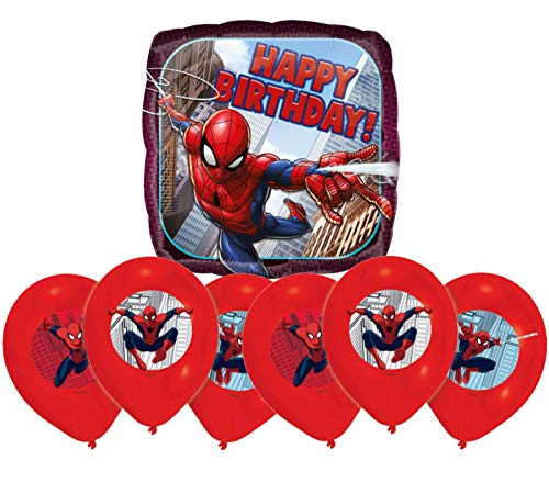Libetui Spiderman Luftballons Kinder Geburtstag Spider-Man Dekoration Set Happy Birthday Deko-Luftballon Balloons