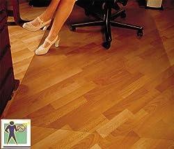 CET Bodenschutzmatte Premium - 116x150 cm für Laminat, Parkett, Fliesen und harte Böden