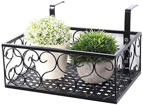 Macetero para balcón de metal, estilo europeo, ventana, flor, soporte moderno, maceta, estantería de bonsái, plantador colgante