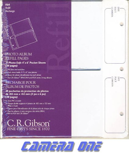 C.R. Gibson K64 Pocket Sheets-Fits P64, BP64, BP2X and P2X Albums