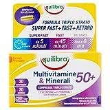 equilibra multivitamine & minerali 50+, 30 compresse triplo strato
