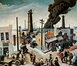 BOOMTOWN BY THOMAS HART BENTON CANVAS REPRODUCTION