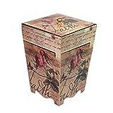 Cubo de Basura de Interior Cubo de almacenamiento de la sala de estar del dormitorio de la sala de basura pastoral creativa del cubo de basura retro 8L Papeleras de la Cocina de la Cesta de Papel de l