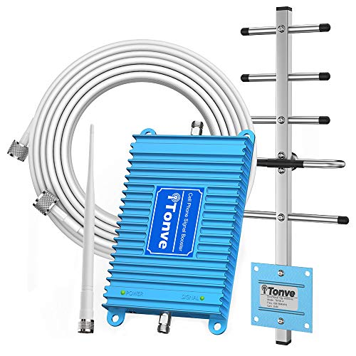 Cell Phone Signal Booster for Home Verizon ATT T-Mobile Sprint 3G GSM Cellular Signal Repeater 850 MHz Band 5 Amplifier Kit with Whip/Yagi Antennas - Boost Voice, Text and 2G 3G Data