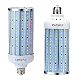 Omicoo 50W LED Corn Light Bulb, 500W Equivalent and 5000 high Lumen led Bulb 240 LED Beads Super Bright Daylight White E26/A19 Base ( 2 Pack)