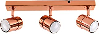 MiniSun Luminaire sur Rail avec 3 Spots. Finition Cuivre. GU10.