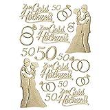 Ideen mit Herz 3-D Sticker Deluxe, zur Hochzeit, Verschiedene Hochzeitsmotive, erhabene Aufkleber,...