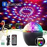 BACKTURE Luces Discoteca, Iluminación de Escenarios Bluetooth con Control de Sonido Rotating, 16 Colores Focos para Iluminación de Escenarios, Eventos Cumpleaños, Fiesta, Bar, Navidad, Bodas
