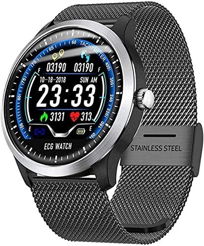 Reloj inteligente de pantalla de 1.25 pulgadas, rastreador de fitness, podómetro deportivo, pulsera, mensaje push, recordatorio inteligente, IP67 impermeable