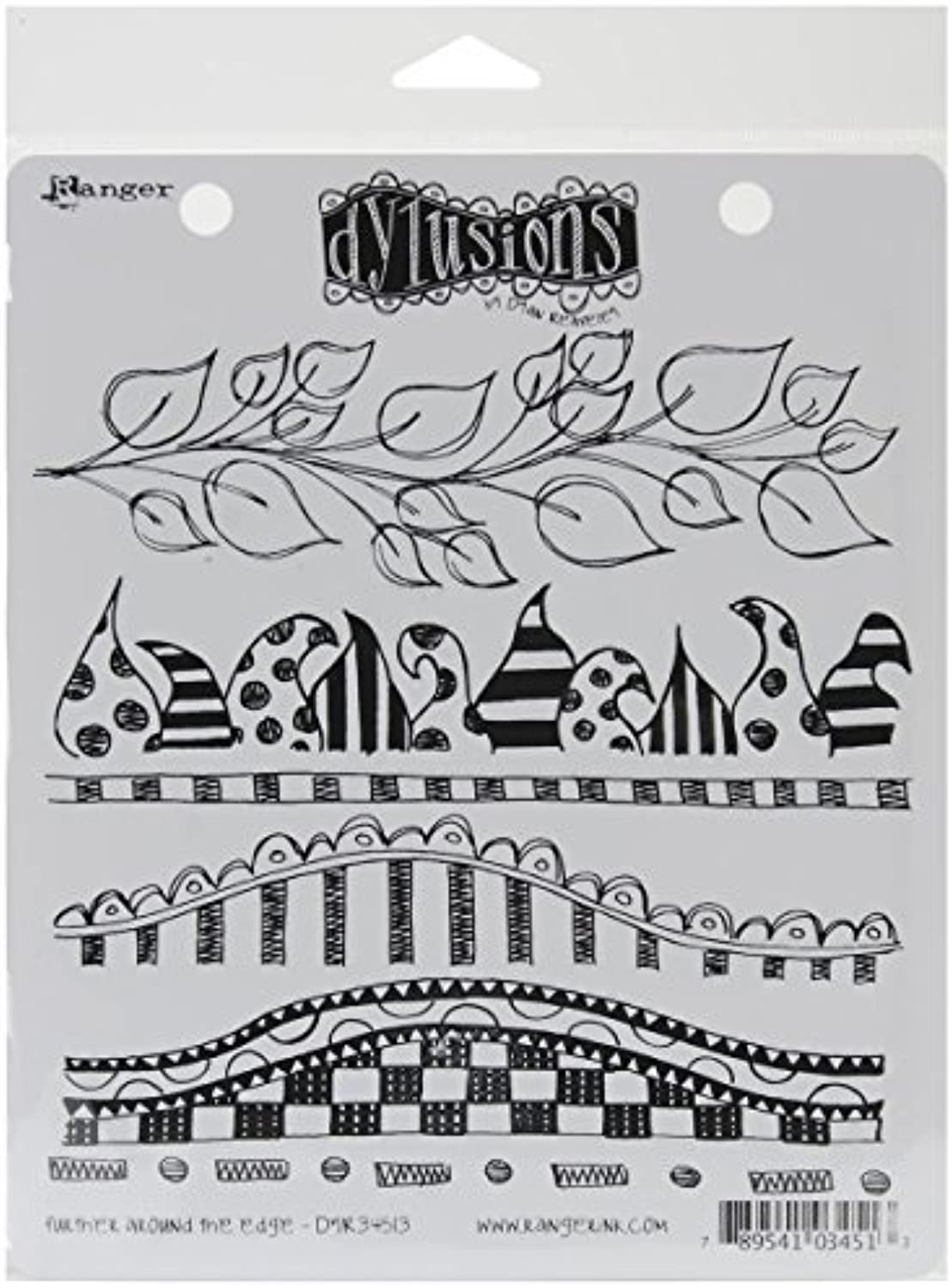 Ranger Dylusions Dyan Reaveley's Collections 8.5 Cling Stamp, by Further 7–Inch, Around The Edge by Ranger