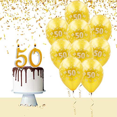 Kit globos velas para tarta para